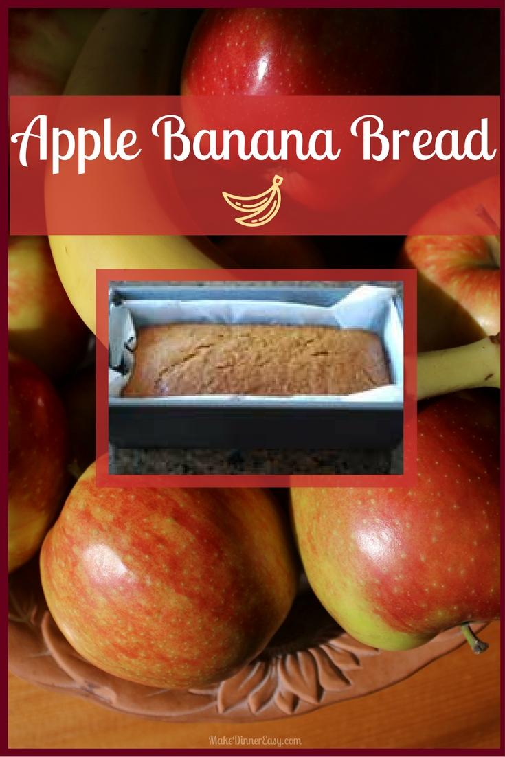 Apple banana bread recipe