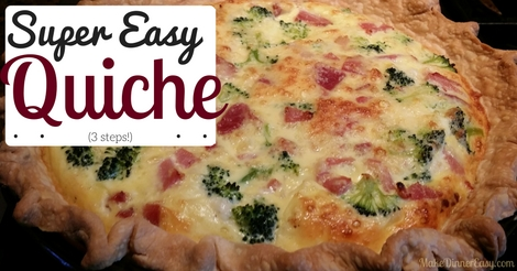 super easy quiche
