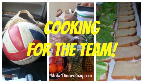 cooking for a travel sports team
