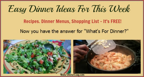 printable shopping list easy ideas for dinner this week