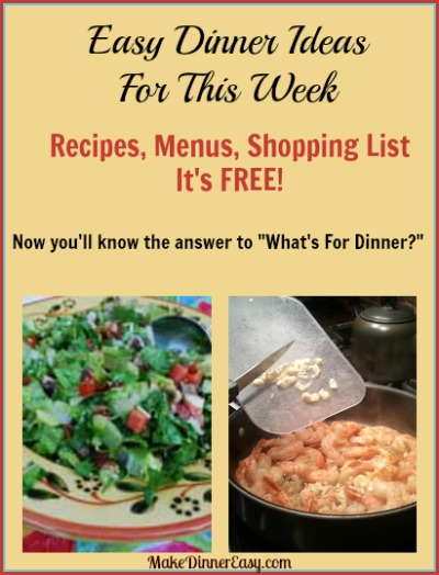Easy Dinner Ideas for this week