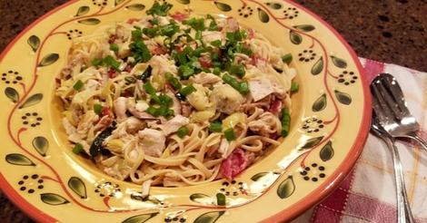 Artichoke Chicken Linguine Recipe