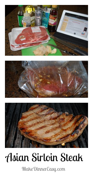 Asian sirloin steak recipe