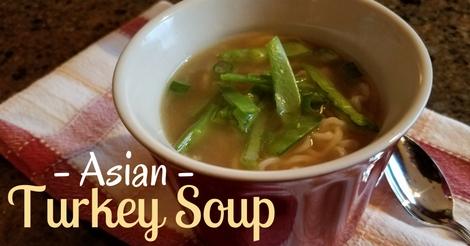 Asian turkey soup recipe