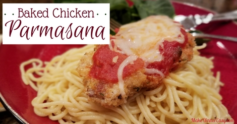 Baked chicken parmasana recipe