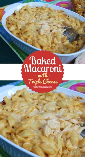 A homemade mac and cheese recipe that is loaded with cheese and great for feeding a crowd of kids!