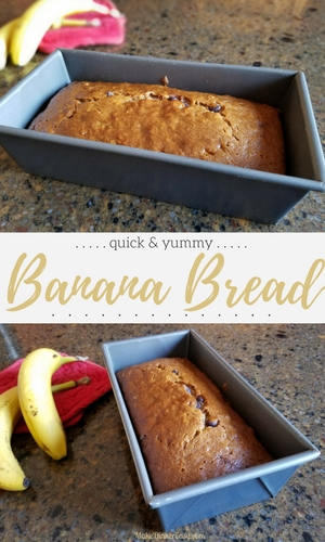 Quick and easy banana bread recipe!