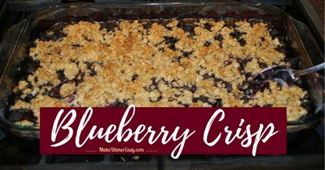 blueberry crisp recipe