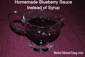 Homemade Blueberry Sauce for Breakfast