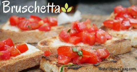 Bruschetta recipe appetizer