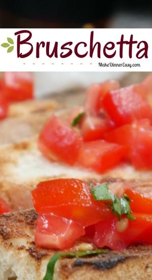 Bruschetta appetizer recipe