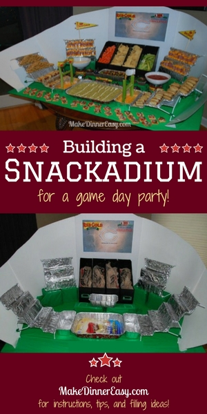 making a game day snackadium
