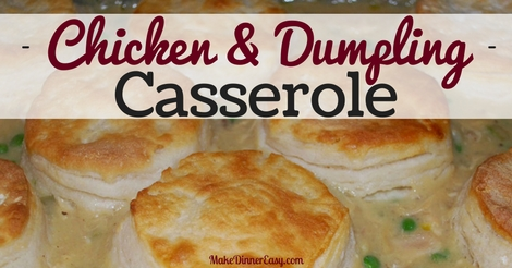 chicken and dumpling casserole recipe