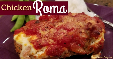 Baked chicken Roma recipe