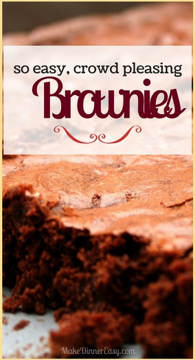 Brownie recipe for a crowd