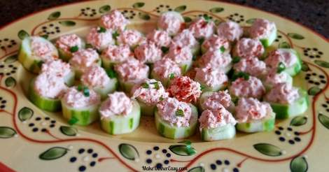 cucumber cups stuffed with spicy crab appetizer recipe