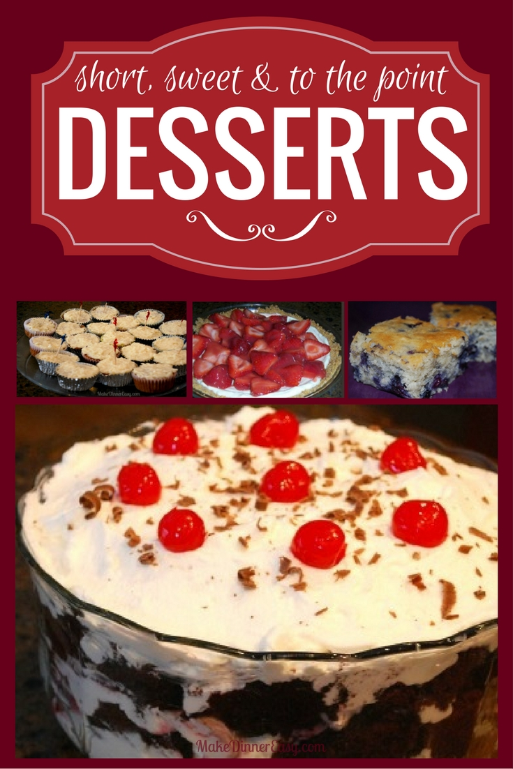 Good and easy dessert recipes