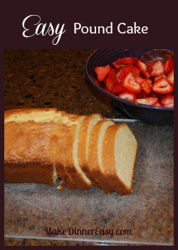 Easy Pound Cake, Pound Cake Recipe