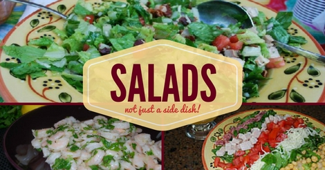 Easy side and dinner salad recipes.