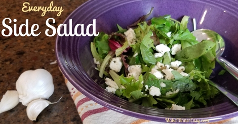 Easy everyday side salad recipe