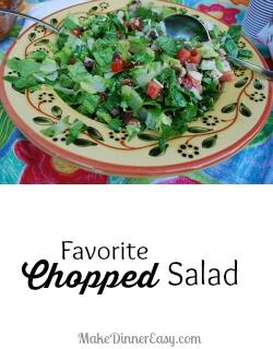 Favorite Chopped Salad from makedinnereasy.com