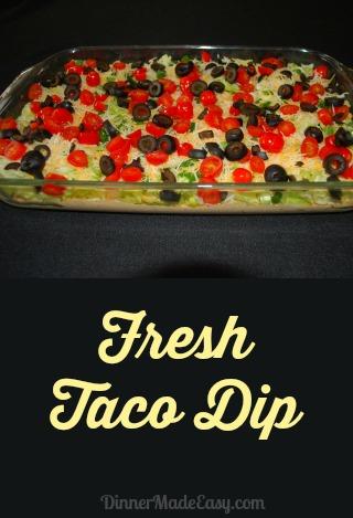 fresh taco dip