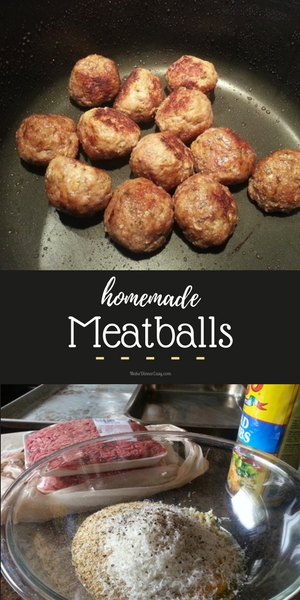 Homemade meatball recipe from MakeDinnerEasy.com
