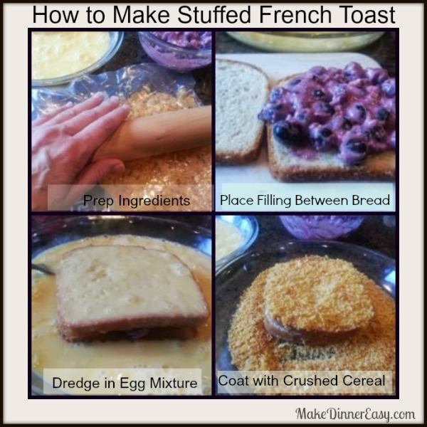 How to make bluberry stuffed french toast