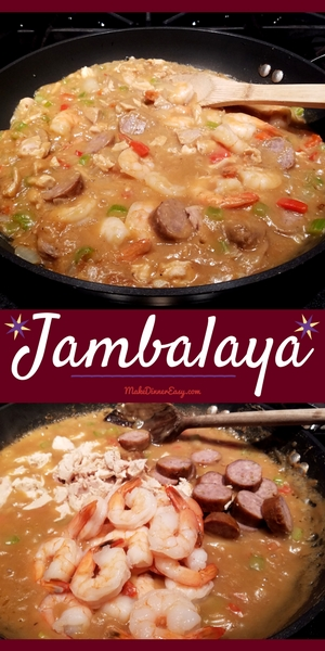 A Jambalaya recipe that's easy enough to make on a busy weeknight, on Fat Tuesday, or any time of year!