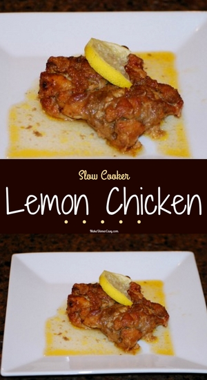 slow cooker lemon chicken recipe from makedinnereasy.com