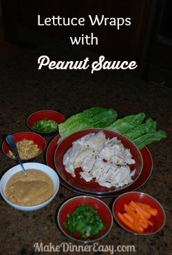 lettuce wraps with peanut sauce