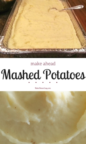make ahead mashed potato recipe
