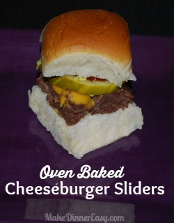 Oven baked cheeseburger slider recipe