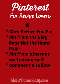 pinterest for recipe lovers