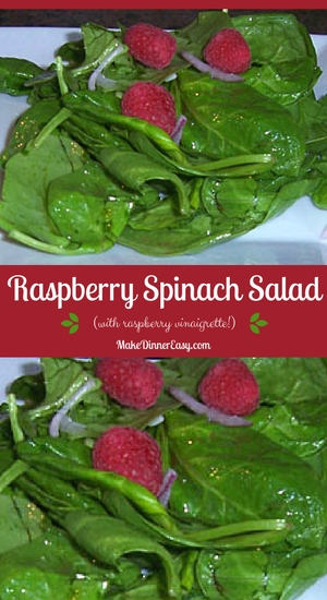raspberry spinach salad recipe