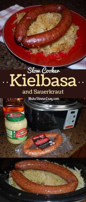 Slow cooker kielbasa and sauerkraut recipe