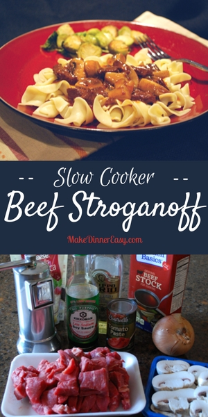 A Beef Stroganoff recipe your family will love, made easy by use of the slow cooker.