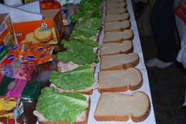 Team Sandwich Making
