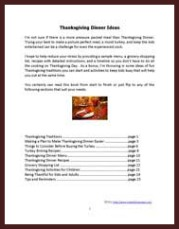 thanksgiving ebook index