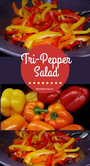 Tri-pepper salad recipe from Make Dinner Easy