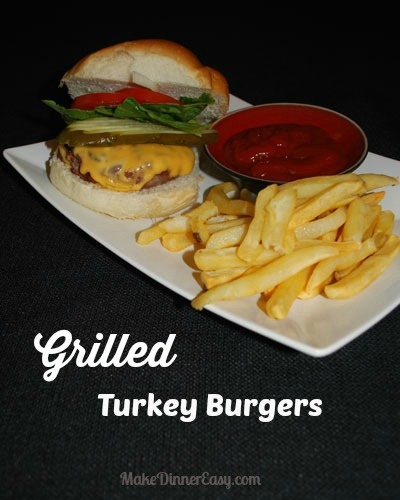 grilled turkey burger recipe