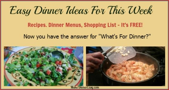 Easy to make dinner recipes for family