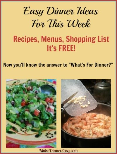 shopping list from recipes