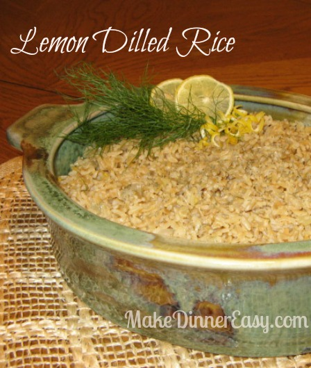 Rice with lemon and dill