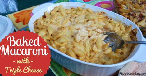 baked mac with triple cheese recipe