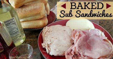 baked sub sandwiches