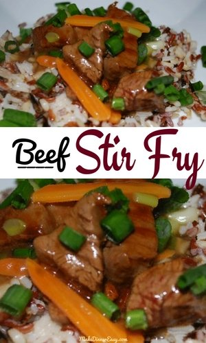 homemade beef stir fry