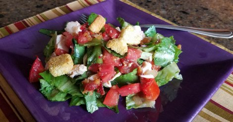 Chicken Club Salad Recipe with a Hot Bacon Dressing