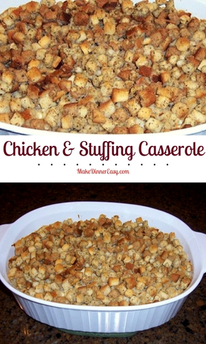 Chicken and stuffing casserole recipe.