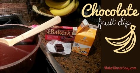 chocolate fruit dip recipe